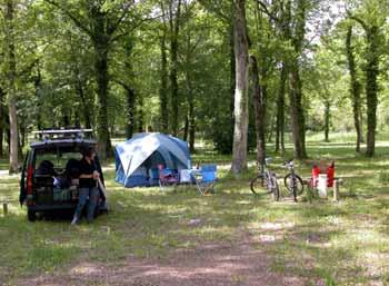 Paradiesisches Zelten im Forêt de Fontainebleau