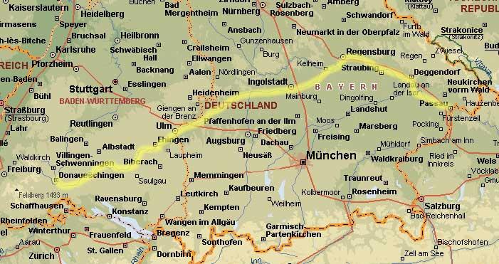 Donauradweg Ulm Passau Karte.Mit Dem Rad An Der Donau Von Ulm Bis Passau