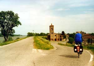 Small villages and old churches protected by the dike